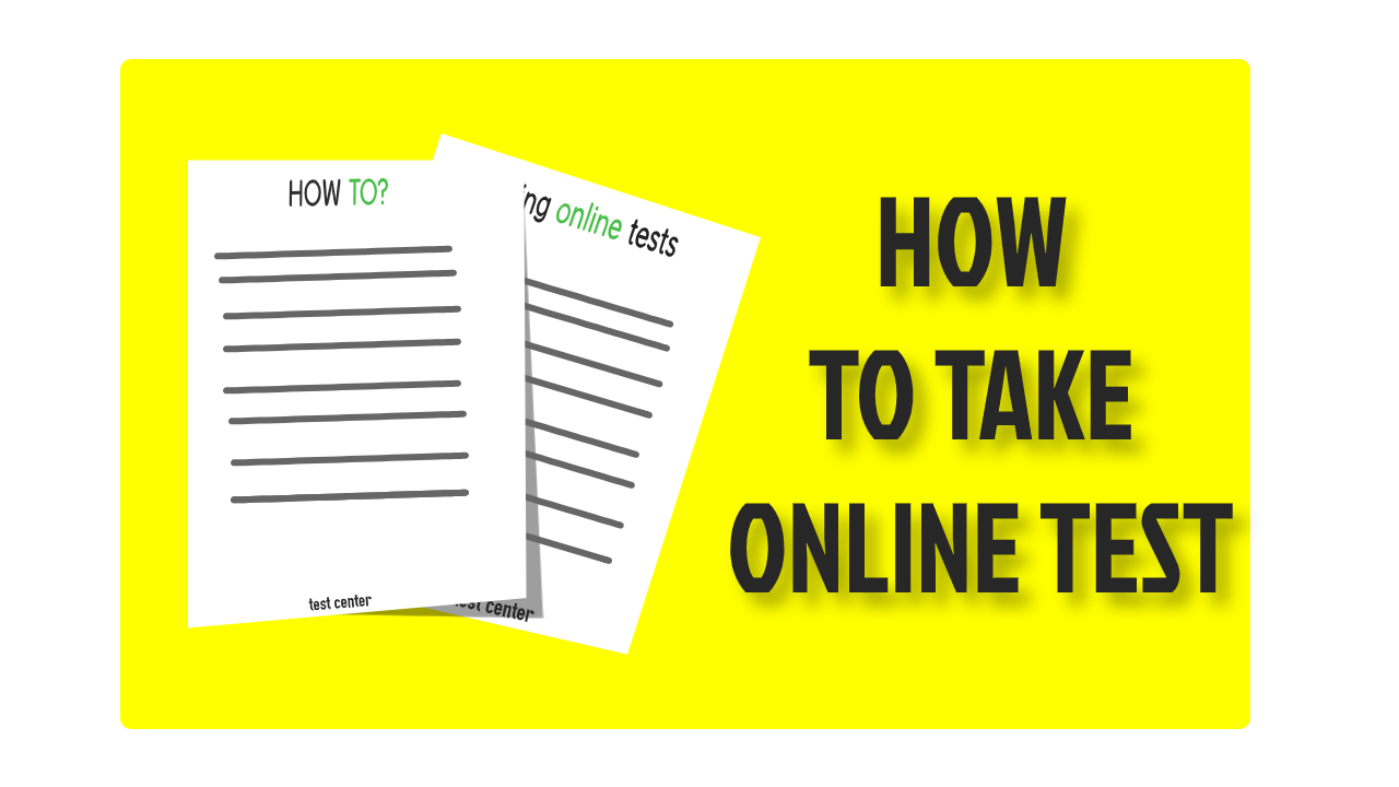 how to take online test